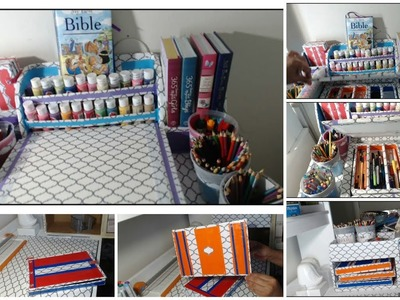 DIY Markers Organizer - Back To School - CARDBOARD IDEAS - Art Supply  Organization