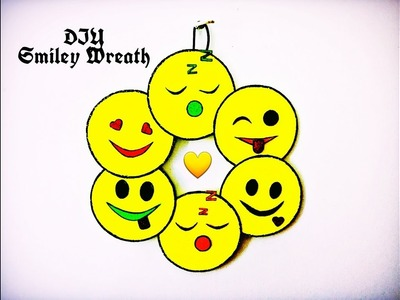 DIY - Mini Smiley Wreath ( Super Easy & Cute Wall Decor Ideas ) | Karthika Loves DIY