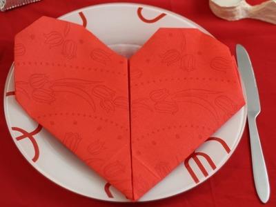 DIY Napkins Origami Heart ❤ (Table Decoration)