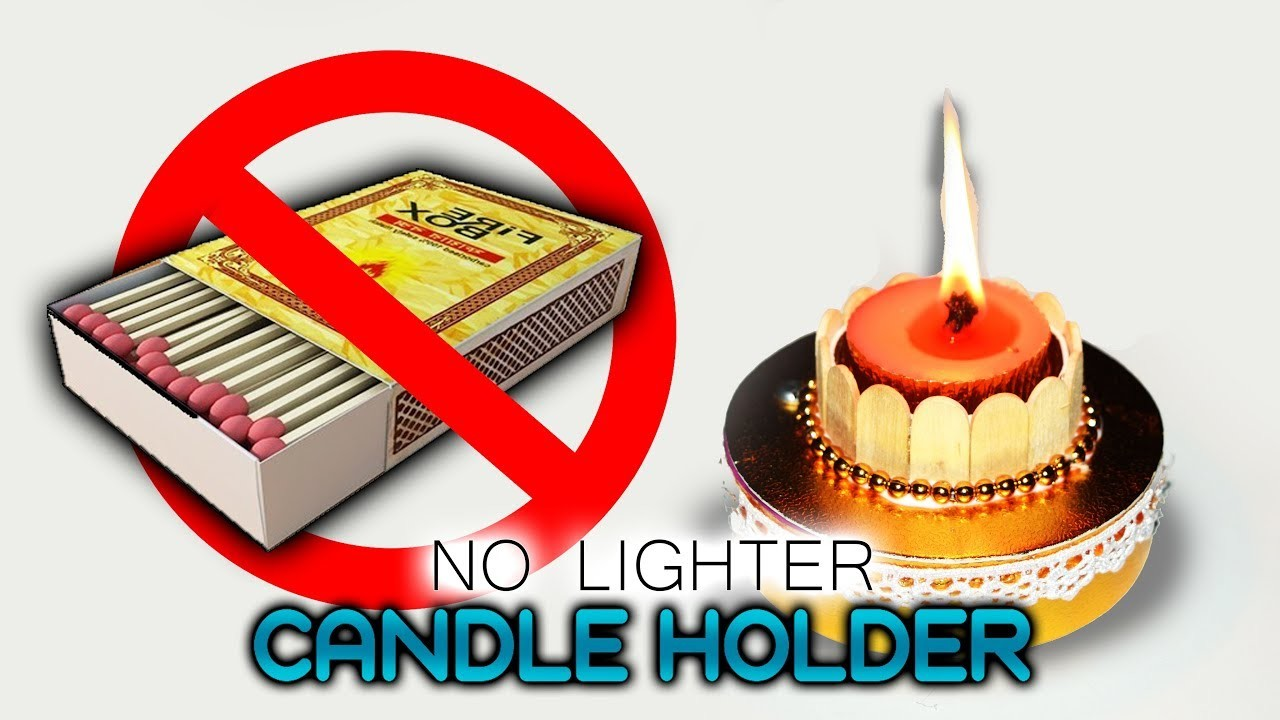 DIY : No Lighter Candle Holder | Best out of waste | Candle stand | Art with Creativity 267