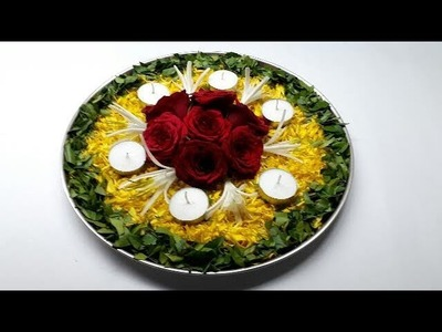 DIY Pooja Thali Decoration.  Simple and Easy Pooja Thali Decoration. How to Make Pooja Thali.