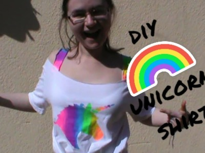 DIY Rainbow Unicorn Shirt For the Not So Artistically (Or Sewing-ically) Inclined