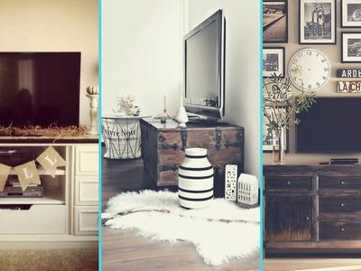 ❤DIY Rustic Shabby Chic Style TV Stand. Wall decor Ideas ❤| Home decor Ideas| Flamingo Mango