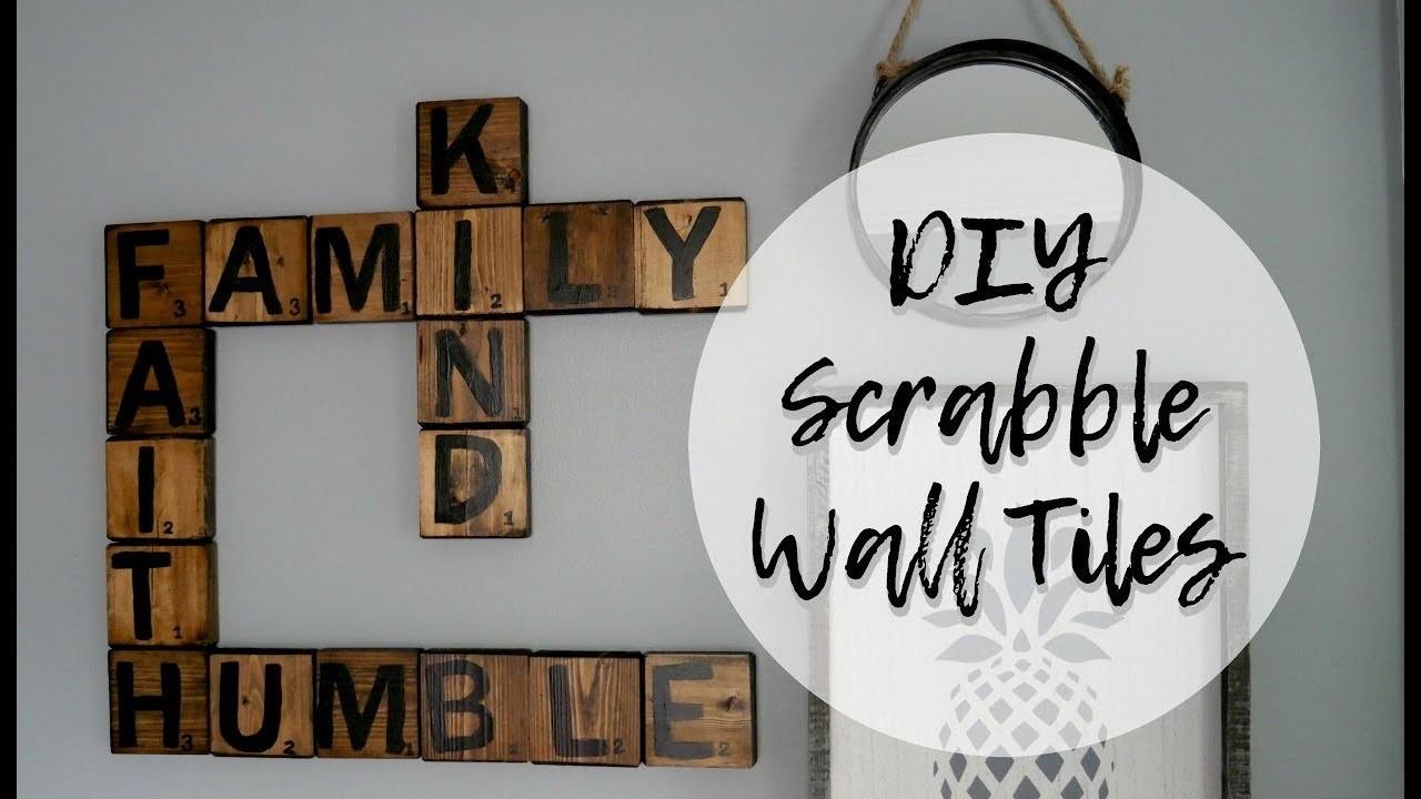 Diy scrabble tiles wall art scrabble letters wall decor for Diy scrabble costume