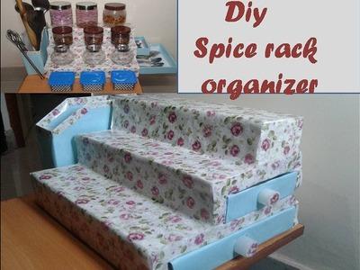 DIY spice organizer for kitchen- kitchen organization Idea. multipurpose storage kitchen organizer