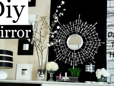 DIY Starburst Mirror Quick and Easy Using Dollar Store Items!