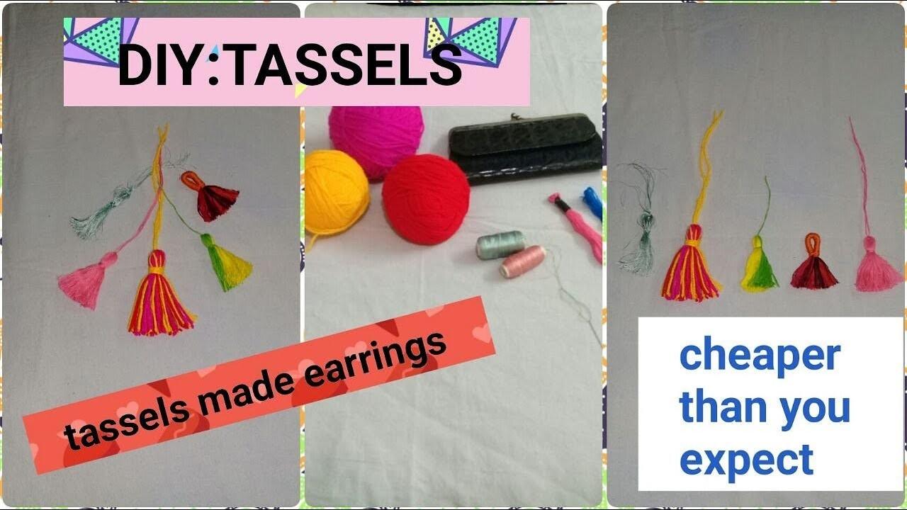DIY:TASSELS | Affordable earrings u just make them in 10 rs.| Quick tassels |how to make tassels|