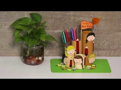DIY Teacher's Day Gift: Pen Stand