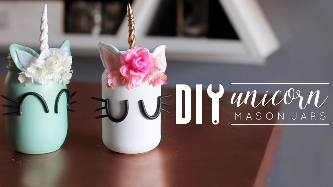 Diy Unicorn Room Decor Mason Jars My Crafts And Diy Projects