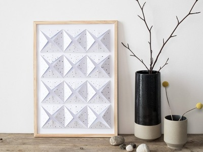 DIY : Wall decoration in a black-white-grey design by Søstrene Grene