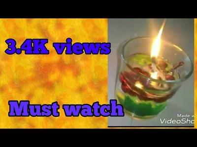 DIY water candle for diwali easy simple diwali decoration ideas