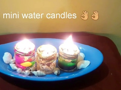 Diy water candles|how to make a watercandle| diwali decoration ideas for home|candle cenrepiece|kk34