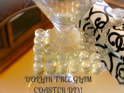 ????DOLLAR TREE DIY-GLAM COASTER ???????? -Check it out now!!!
