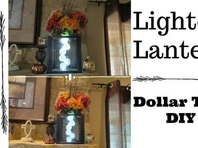 Dollar Tree DIY Lighted Fall Lantern | How To Make A Lantern ~ Easy DIY