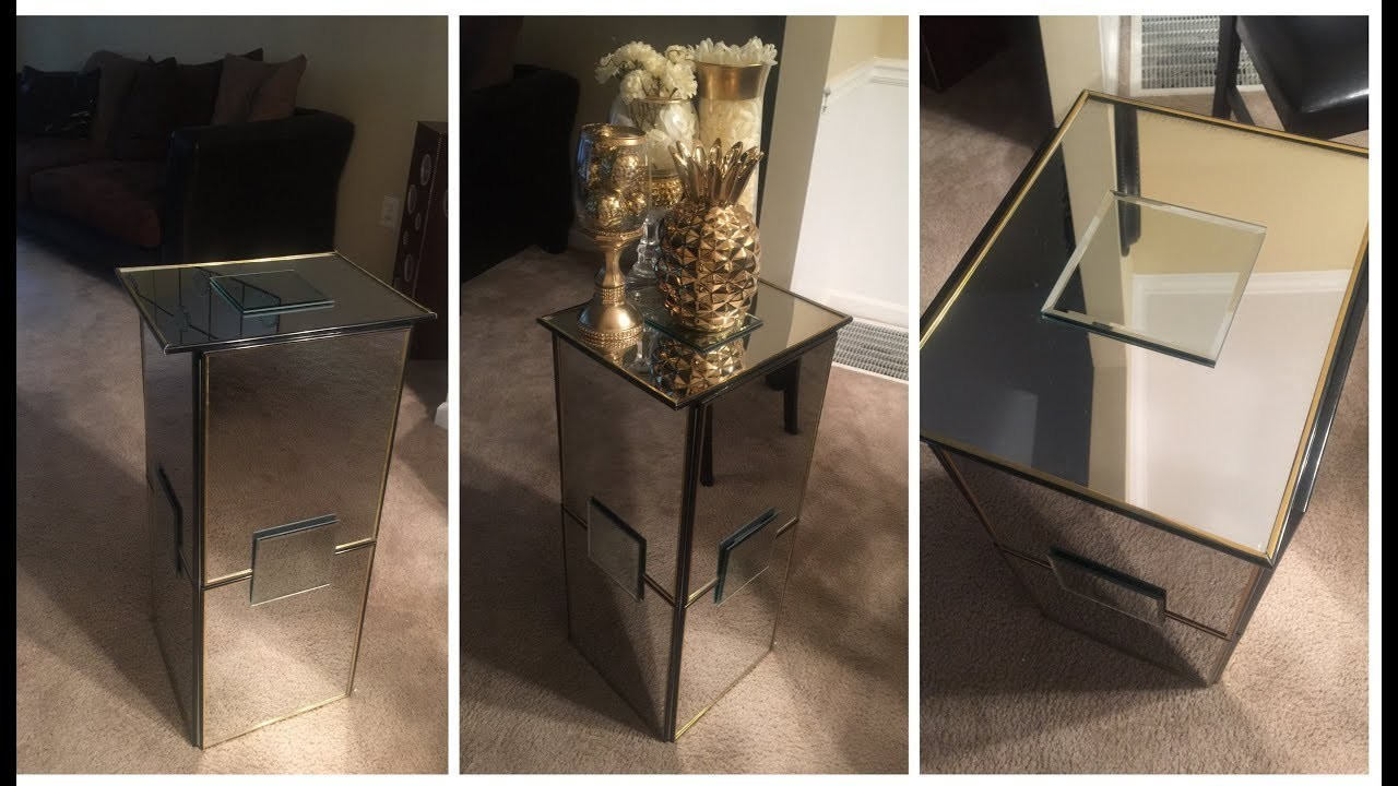 Dollar Tree DIY: ????Mirrored End Table.Stand????