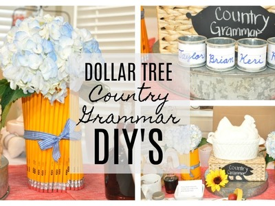 Dollar Tree DIY : Pencil Floral Arrangement & Custom Napkin Rings