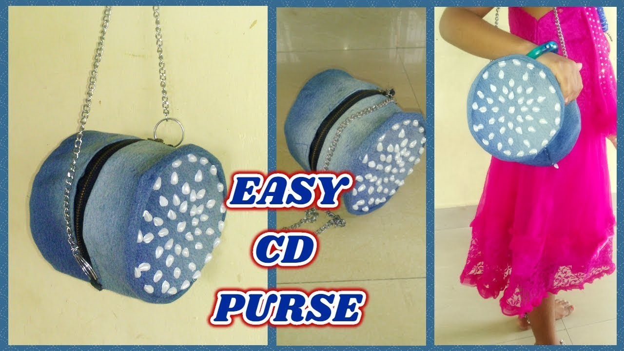 EASY DIY CD PURSE FROM OLD CD