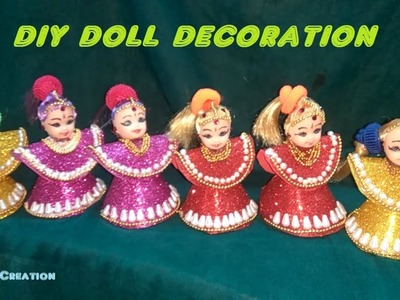 Easy doll decoration.diy doll decoration