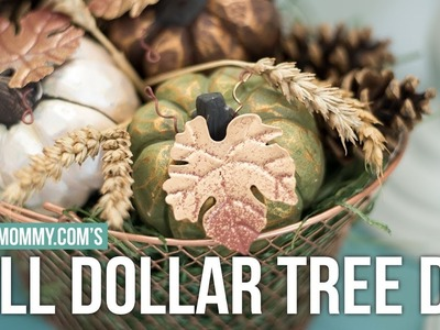 FALL DOLLAR TREE DIY CENTERPIECE Collab with Thrifted Living! | The DIY Mommy