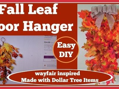 Fall ????Leaf Teardrop Door Hanger ????DIY inspired by an item on Wayfair.