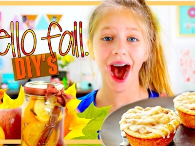 HELLO FALL! Food DIY's you'll FALL in love with! Easy Kids DIY Crafts and Recipes Ideas Hope Marie