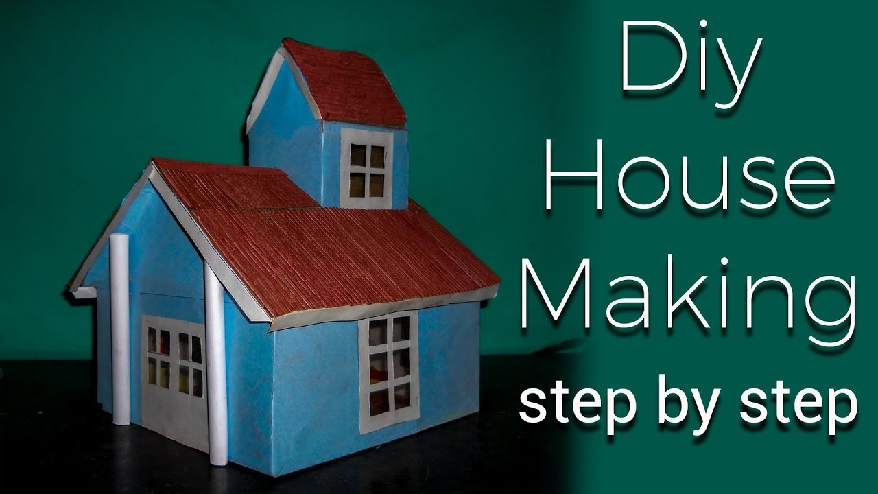how to make a diy cardboard house easily step by step
