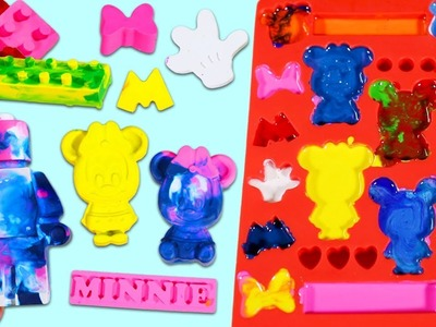 How to Make Mickey Mouse & Lego Shaped Crayons DIY Melted Crayon Molds!
