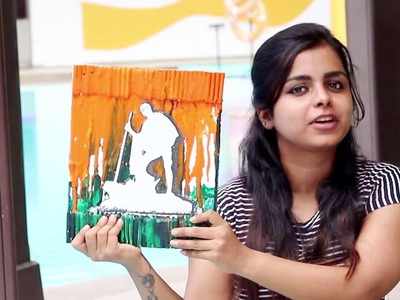 INDIAN INDEPENDENCE DAY DIY | Tricolour Crayon Art | Pinterest inspired