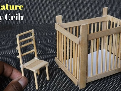 Miniature Baby Crib DIY | Popsicle Stick Crafts