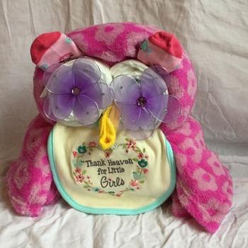Pink Diaper Owl