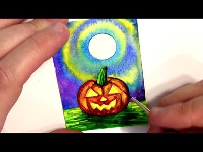Pumpkin Painting - How To Paint Halloween Easy DIY