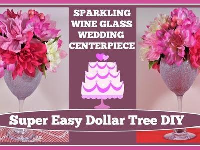 ????Sparkling Wine Glass Wedding???? Centerpiece DIY????