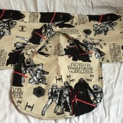Star Wars Themed Burp Cloth and Bib
