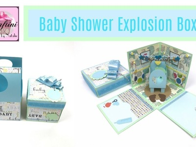 The Best Baby Shower gift card holder - DIY: How to make baby shower explosion box by Craftini