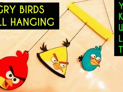 WALL HANGING ANGRY BIRDS DIY | Wall hanging for kids ! Room Decor Idea 2017 | CARDBOARD WALL HANGING