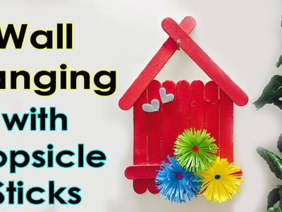 Wall Hanging ideas with Popsicle Sticks | DIY Home Decoration