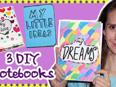 3 DIY projects notebooks | Notebooks cover ideas | Easy DIY school supplies Back to school