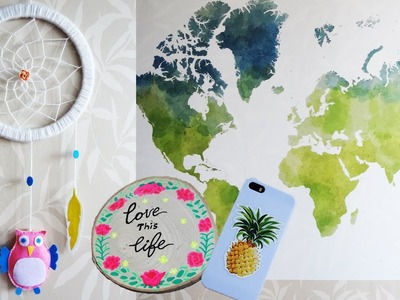 3 Random Decoration: Pattern from PIXERS, DIY Baby DreamCatcher & DIY Decorated Wood Coaster