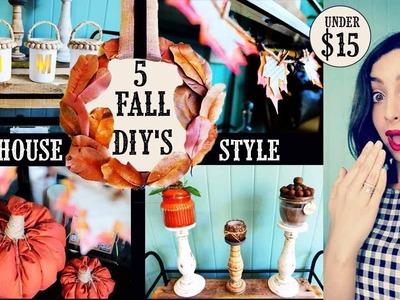 5 Fall Decor DIY's | Farmhouse Style | All $15 or Less