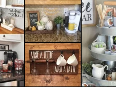 75+ Home Coffee Bar Design And Decor Ideas | DIY Kitchen Storage & Organization