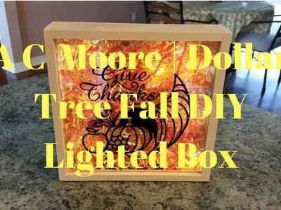 A C Moore | Dollar Tree Fall DIY Lighted Box