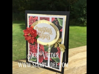 A Panel Card using Christmas Cheers Prints Paper with Deb Valder