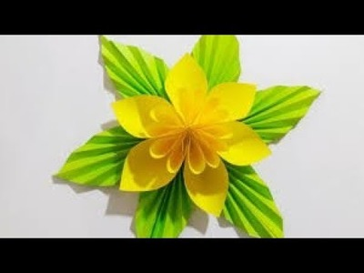 A Wonderful Flower Made by Origami Paper || Creative Activity || কিভাবে কাগজের ফুল বানাবেন??