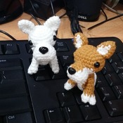 amigurumi dogs - set of 2