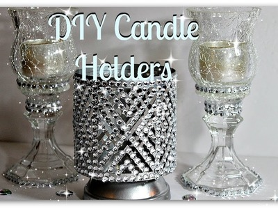 ????????????Bath And Body Works Inspired Candle Holders????????????||Dollar Tree Bling DIY Candle Holder????????????