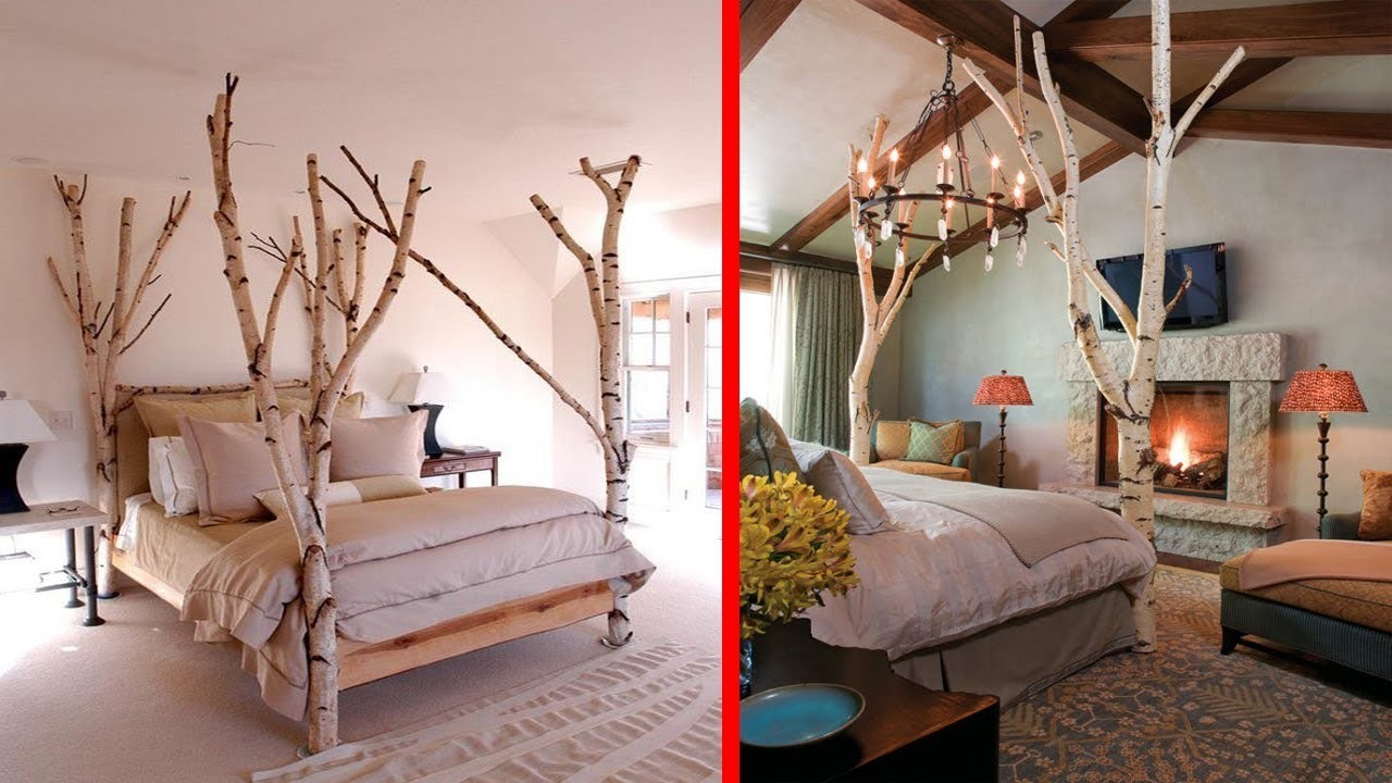 Creative tree branches decor ideas diy branch tree house for Tree branch decorations in the home