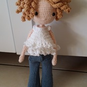 Crochet doll with Jeans