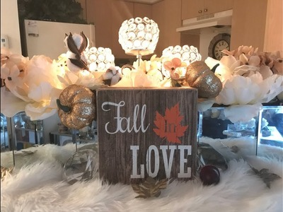 ????Decorate With Me: My Glam Entryway Bar for Fall???? Dollar Tree Diy