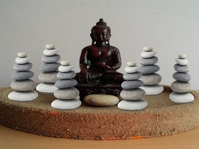 DIY-Art Attack | How to Make Maditation Buddha at home with Stone Piller & Buddha