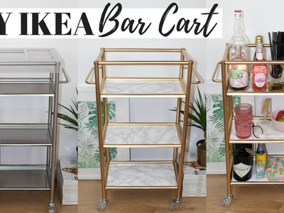DIY BAR CART IKEA HACKS | Ep 5 - Super Easy and Affordable!